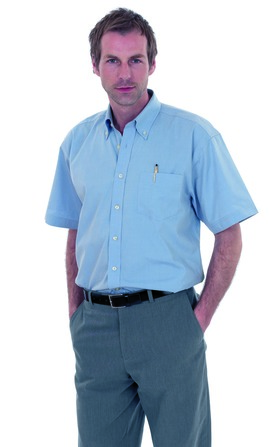 Photo of UC702 Mens Pinpoint Oxford Half Sleeve Shirt by Uneek Clothing