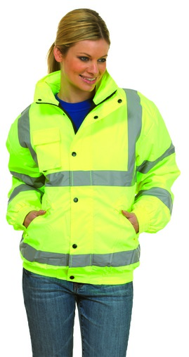 Photo of UC804 High Visibility Bomber Jacket by Uneek Clothing