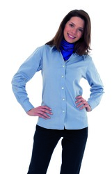 photo of Ladies Pinpoint Oxford Shirt - UC703